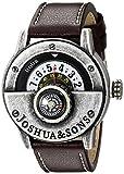 Joshua & Sons Men's JX116SSBR Round White Dial Compass Quartz Strap Watch