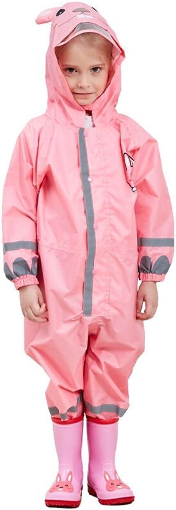 Hivia Tuta da Pioggia per Bambini Tuta Impermeabile Antipioggia Giacca Softshell da Pioggia Esterno per Scuola Escursionismo Calcio