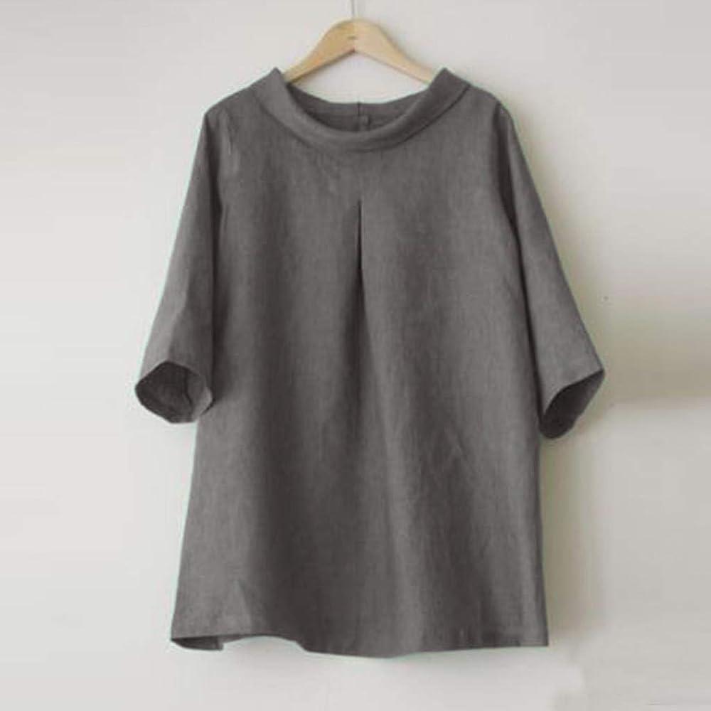 Daylin - Camiseta de Manga Corta para Mujer, Cuello Redondo ...