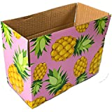 """25 8x4x4 Pineapple Designer Boxes corrugated Cardboard Box Shipping Cartons Mailers Pineapples Custom Printed Containers 8"""" x 4"""" x 4"""" #SmileMail Brand"""