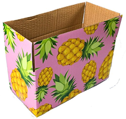 25 8x4x4 Pineapple Designer Boxes corrugated Cardboard Box Shipping Cartons Mailers Pineapples Custom Printed Containers 8