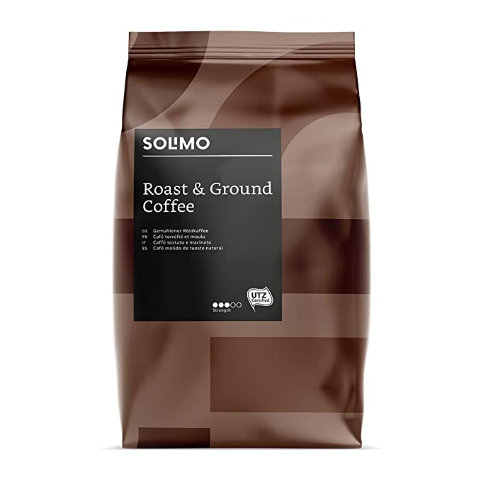 Marca Amazon - Solimo Café molido Aroma compatible con todos los ...