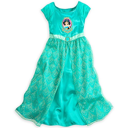 Disney Store Deluxe Princess Jasmine Nightgown Aladdin Girls Size S Small 5 - 6 5T -