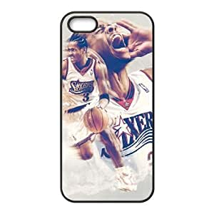 Allen Iverson iPhone5s Cell Phone Case Black TPU Phone Case SV_204675