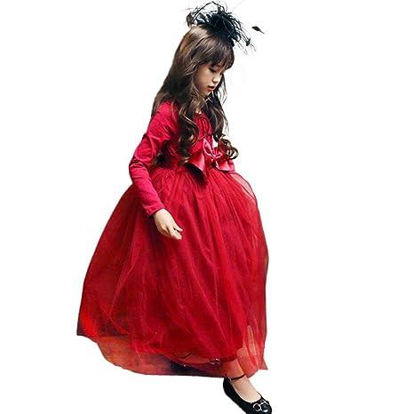 680082cf4 Niños niña Ropa Yes Mile niños pequeños Niños bebé niña Ropa Vestido De  Gasa Vestido de partido Princesa Vestido Algodón Malla ...