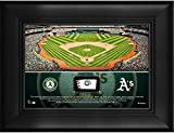 "Oakland Athletics Framed 5"" x 7"" Stadium Collage with a Piece of Game-Used Baseball - MLB Team Plaques and Collages"