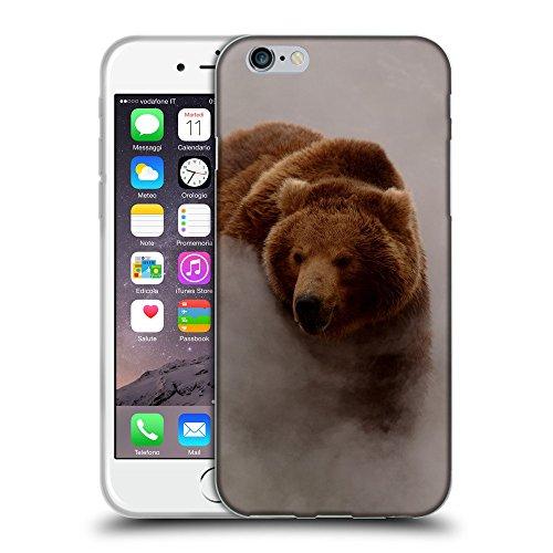 """Just Phone Cases Coque de Protection TPU Silicone Case pour // V00004093 Ours marchant dans un brouillard matinal // Apple iPhone 6 6S 6G PLUS 5.5"""""""