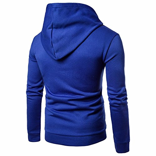 Capuche Bleu Pour Longues À Manadlian Hommes Manches Sweats shirt Veste Outwear Manteau Sweat StnWEExq7