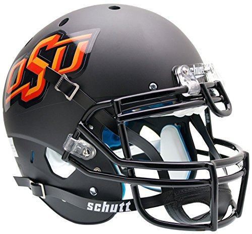 NCAA Oklahoma State Cowboys Authentic XP Football Helmet, Matte/Black by Schutt