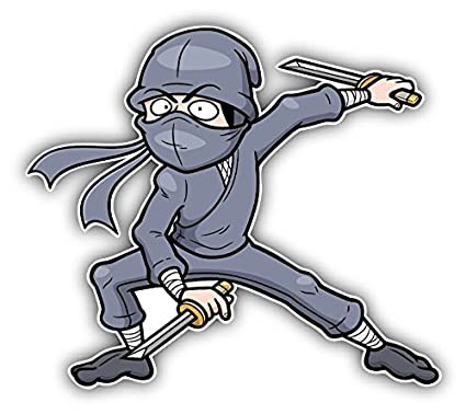 Amazon.com: Cartoon Ninja Warrior Home Decal Vinyl Sticker 5 ...