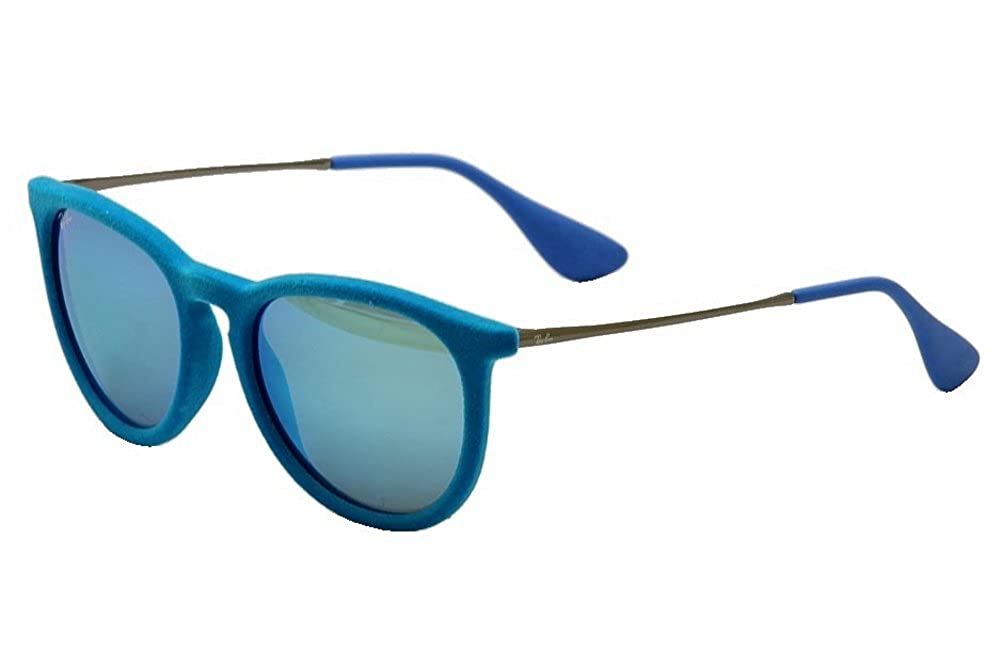 Amazon.com: Ray-Ban ERIKA - AZURE VELVET Frame BLUE MIRROR Lenses ...