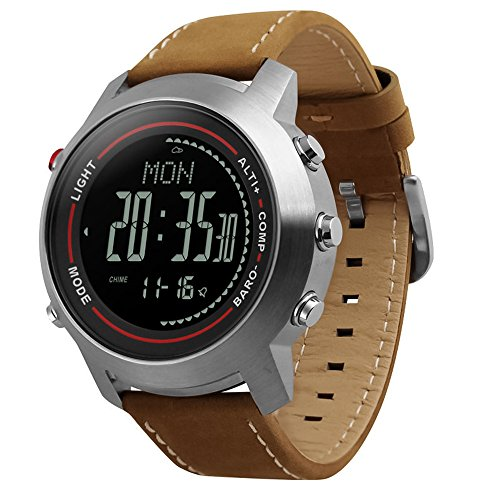 Men Digital Sports Watches with Compass Pedometer Altimeter Barometer Military Waterproof Wristwatch
