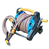 Luerme Garden Hose Reel Stand with Wheels Water Pipe StorageRack Hose Reel Cart