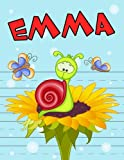 emma personalized book with child s name primary writing tablet 65 sheets of practice paper 1 ruling preschool kindergarten 1st grade 8 1 2 x 11