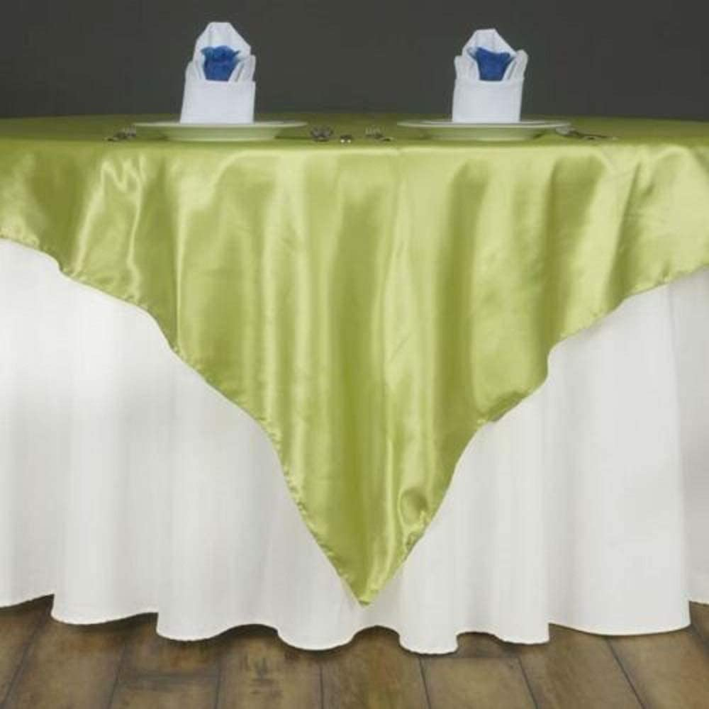 72 Satin Square Table Overlay Apple Green YSefa