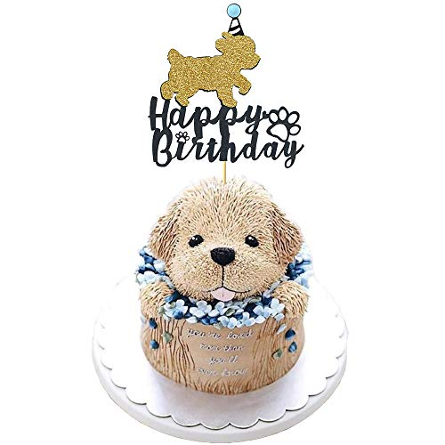 Birthday Puppy Dog Cake - Maydolbone Dog Happy Birthday Cake Toppers - Puppy Pet Party Cake Decorations Supplies