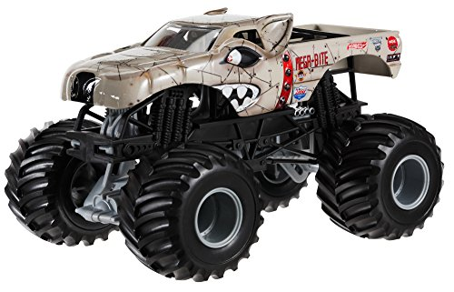 - Hot Wheels Monster Jam Mega Bite Die-Cast Vehicle, 1:24 Scale