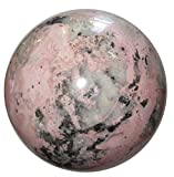 Rhodochrosite Ball 36 Jumbo Pink Crystal Sphere with Natural Quartz Cluster Love Healing Stone Masterpiece 4''