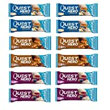 Quest Nutrition Hero Protein Bar Variety Pack. Low Carb Meal Replacement Bar with 20 gram Protein. High Fiber, No Gluten(12 Count) Larger Image