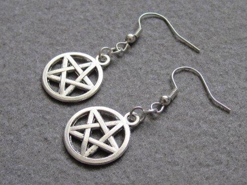 Amulet Earrings,pentagram Earrings,cute Five Pointed Star Earrings,protection