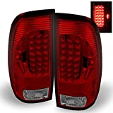 99 to 05 f250 headlights - 97-03 Ford F150 F-150 Pickup Truck Styleside Model Red Clear LED Tail Lights Brake Lamps Pair Pair