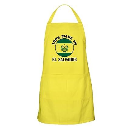CafePress – Made in El Salvador – Delantal para barbacoa – Delantal de cocina con bolsillos