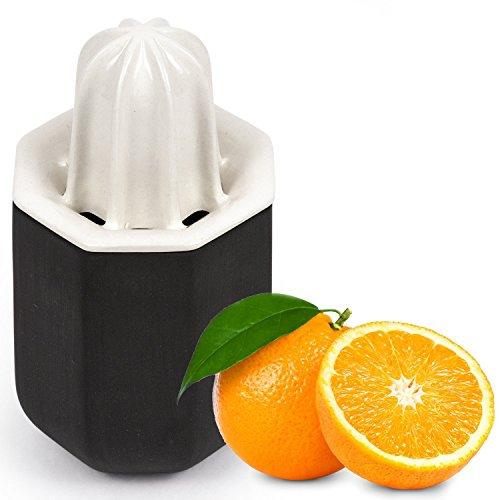 Premium Ceramic Handcrafted Lemon Lime Orange Squeezer - Manual Citrus Press Juicer - CACTUS by UBIKUBI