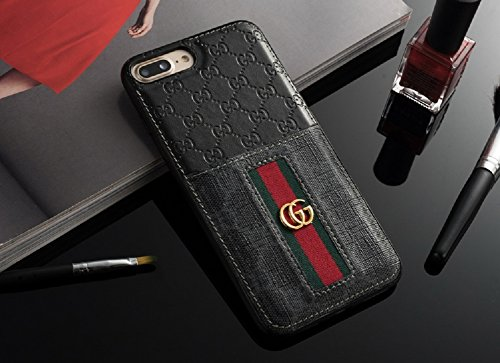 New Elegant Luxury Iphones Protection Back Cover Cases Fashion Designer Classic Style Full Protect Case For Apple Iphone 6/6S Plus 7/8 Plus Iphone X/10 With Card Slot(Black For Iphone X/10)