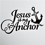 Chase Grace Studio Jesus is My Anchor Christian Vinyl Decal Sticker|Black|Cars Trucks SUVs Vans Laptops Walls Glass Metal|7' X 4.25'|CGS911