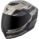 Scorpion EXO-R420 Full-Face Helmet Techno Titanium/Black Medium (More Size Options)