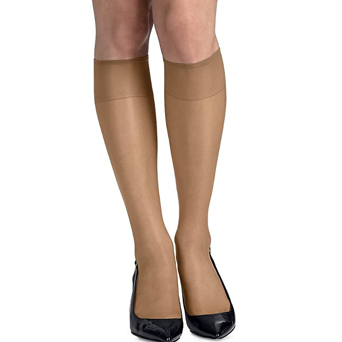 a9520e519cc Image Unavailable. Image not available for. Color  Hanes womens Silk  Reflections Silky Sheer ...