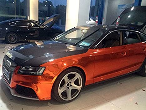 Chromfolie STRETCHABLE Chrom Lila für 3D Verklebung 1,52m Breit Car Wrapping