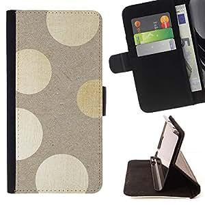 Momo Phone Case / Flip Funda de Cuero Case Cover - Lunares de madera Patrón Bling - HTC One Mini 2 M8 MINI