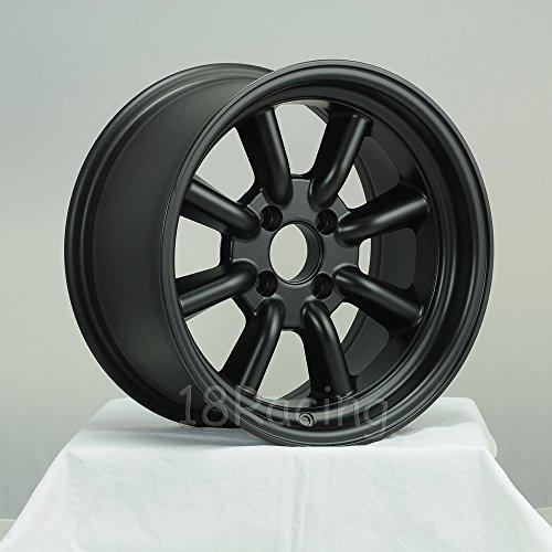 4 PCS ROTA RKR WHEELS 15X8 PCD:4X114.3 OFFSET:0 HB:73 MAG BLACK - Rota Wheel
