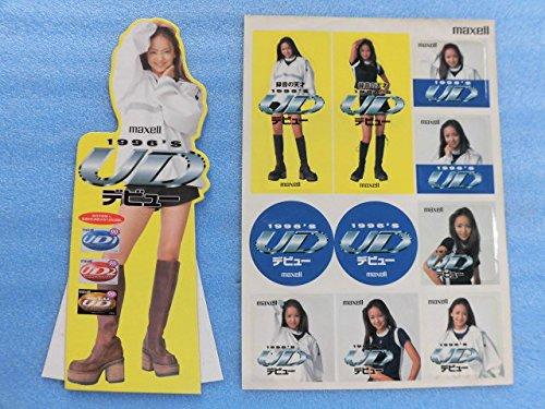 90年代 当時物 安室奈美恵 MAXELL カセットテープ 厚紙かんばん シール