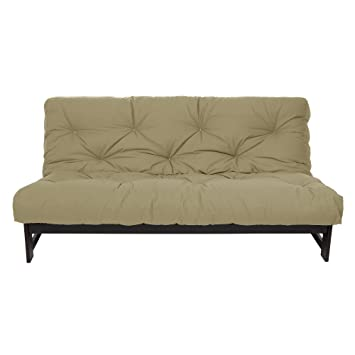 mozaic full size 6 inch cotton twill futon mattress khaki amazon    mozaic full size 6 inch cotton twill futon mattress      rh   amazon
