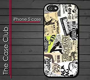 iPhone 5 Rubber Silicone Case - Punk Rock 80's Old School Concert Bills Punks not Dead