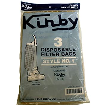 Kirby Tradition Upright Vacuum Cleaner Style 1 Paper Bags 3 Pk Part # 190679S