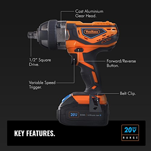 515gZiaLAtL The True Potential Of The VonHaus Cordless Impact Wrench