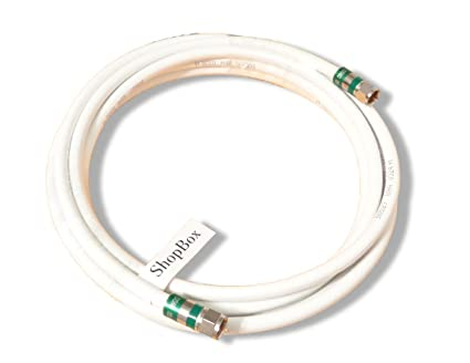 White Quad Shield RG-6 Coax 75 Ohm Cable for (CATV, Satellite TV