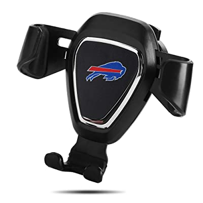for Buffalo Bills Car Phone Mount Air Vent Cell Phone Holder for Car Compatible with iPhone, Google Pixel 3 XL, Samsung Galaxy S9+, and Other All Phones, Black (for Buffalo Bills): Automotive