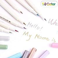 PuTwo Feutres 10 Couleurs Métalliques Pour Photo Marqueurs Multicolore Scrapbooking Accessoires Pour Carterie/Utilisation Sur Toute la Surface du Papier