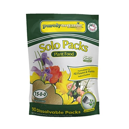 Purely Organic Products 0.5 lb. Indoor/Outdoor Water Soluble Plant Food Solo Packs