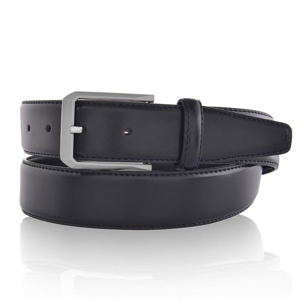 Men's Classic Dress Leather Belt for Suit Business Style Black