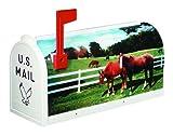 Flambeau T-RD-HRS Scenic Decor Series Mailbox, Horses