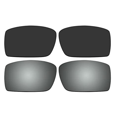 15b9eaed3f Amazon.com  ACOMPATIBLE Replacement Polarized Black and Titanium Lenses for Oakley  Gascan Sunglasses  Sports   Outdoors