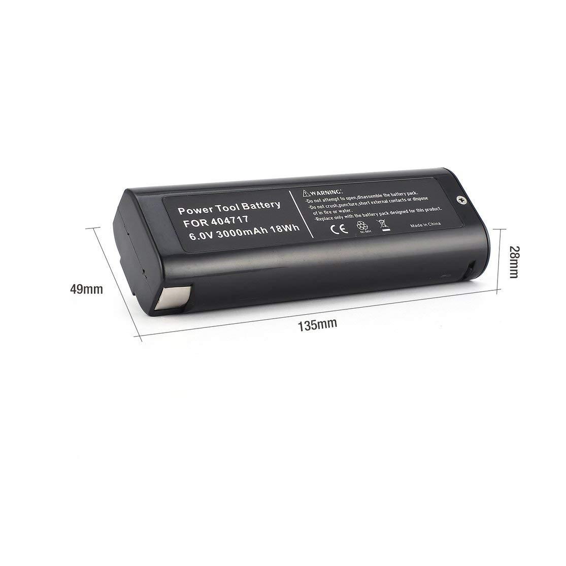 Candybarbar 6V 3000mAh 2pcs Bater/ía Recargable de Repuesto para Herramienta el/éctrica para Paslode 404717 BCPAS-404717 Carga r/ápida Mayor Capacidad