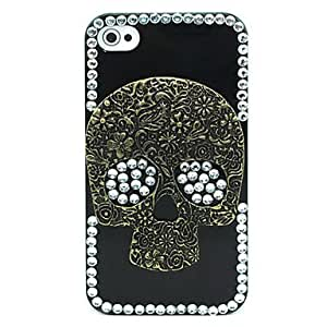 NEW Punk Style Zircon Skull Pattern Hard Case for iPhone 4/4S