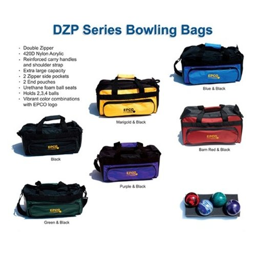 Double Zipper Soft Pack Bag- 6 Colors Available (4 Ball, Barn Red/Black)