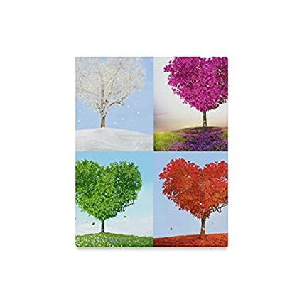 4ea8056bc445 INTERESTPRINT Valentine Love Heart Tree of Love for Four Seasons Wall Art  Canvas Print Stretched and Framed Abstract Paintings - Wall and Home Decor,  ...